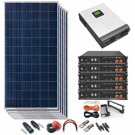 "main image of ""Kit Solar 48v 1980w Inversor Híbrido con batería de Litio 5Kw MPPT 80A"""