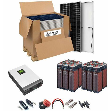Kit Solar 48v 7200w Inversor Híbrido, 5Kw Mppt 80A, 12Opzs 2250Ah