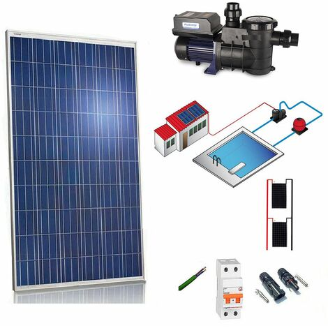Kit solar 550W - 3/4cv depuradora para piscina