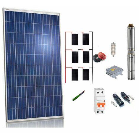 Kit solar Bombeo 1100w / 1.5cv Caudal max. 3300 Litros/hora Altura 106 metros