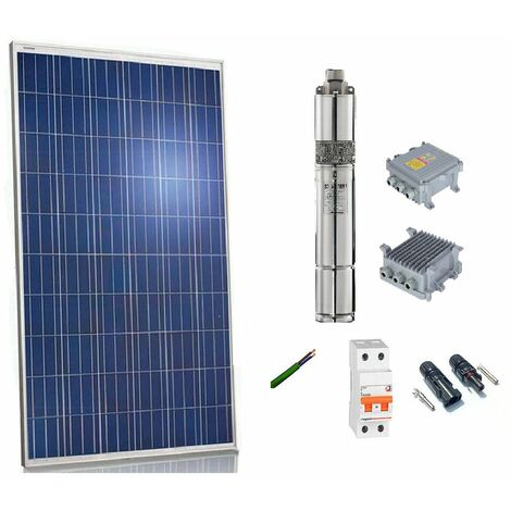 Kit solar Bombeo 300w Caudal max. 1200 Litros/hora Altura 35 m