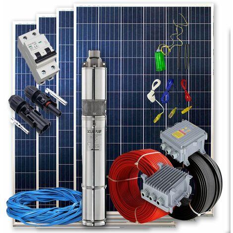 Kit solar Bombeo 550w - 3/4cv Caudal max. 3200 Litros/hora Altura 54 metros