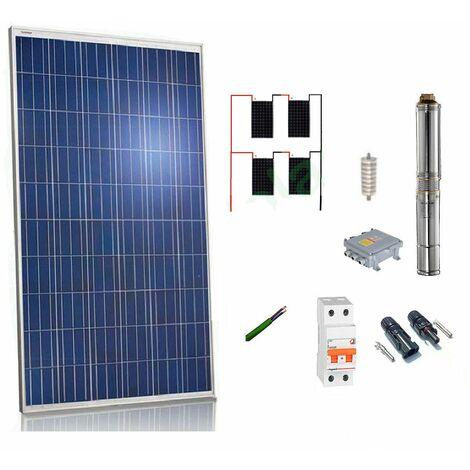 Kit solar Bombeo 900w / 1.2cv Caudal max. 2200 Litros/hora Altura 140 metros