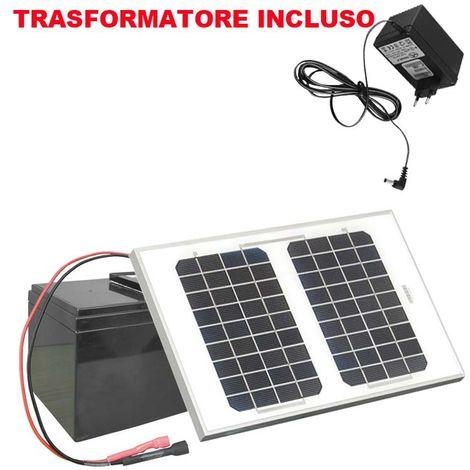 Kit solare CORRAL SOLAR KIT 8W con batteria e pannello solare integrato Ako