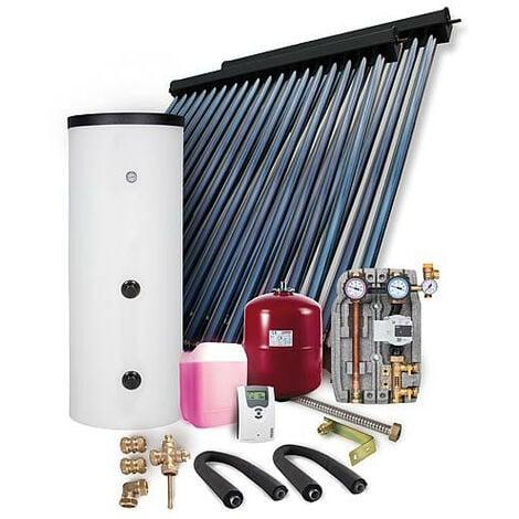 Kit solarie HP 22 montage sur toiture 7,22m2 avec reservoir solaire 300L