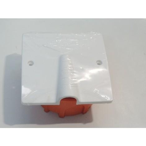 Kit sortie de cable 32A prêt à poser avec boite placo Ø 86mm + sortie de cable blanche 100x100mm pour cuisine SIB ADR KIT58640