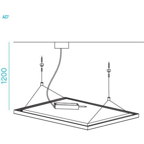 Kit sospensione Nobile per pannelli Led serie LPZ66 AZ7