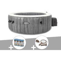 Kit spa gonflable Intex PureSpa Baltik rond Bulles 6 places + 6 filtres + Kit d'entretien