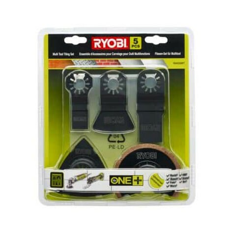 Kit spécial carrelage 5 pièces Ryobi multitool OnePlus RAK05MT