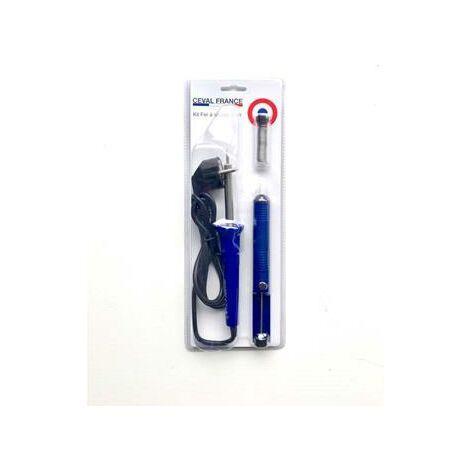 Kit spécial électronique fer à souder 30w (pompe + étain)