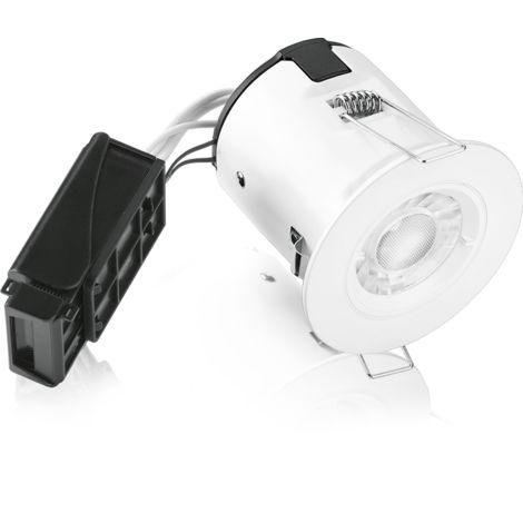Kit spot encastré aluminium fixe ip65 gu10 5w 840 gradable blanc