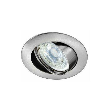 Kit Spot encastré Galaxy LED STEP DIM orientable - 4,5W - 2700K - 390lm - Rond - Dimmable - Avec ampoule - Nickel