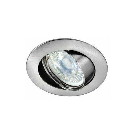 Kit Spot encastré Galaxy LED STEP DIM orientable - 4,5W - 4000K - 390lm - Rond - Dimmable - Avec ampoule - Nickel