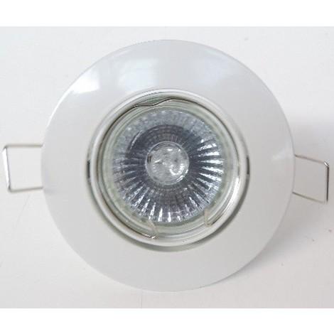 Halogène 50w Lampe Ip20 Ø Spot Gu10 Kit 6102 Encastré Blanc Orientable 91mm Avec 230v Seet Europole Smart'up dCxoeB