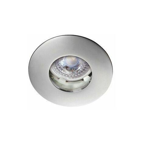 Kit Spot encastré LED Hidro - 8W - 2700K - 680lm - Rond - Non dimmable - Avec ampoule - Chrome