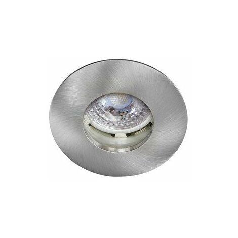 Kit Spot encastré LED Hidro - 8W - 2700K - 680lm - Rond - Non dimmable - Avec ampoule - Nickel brossé