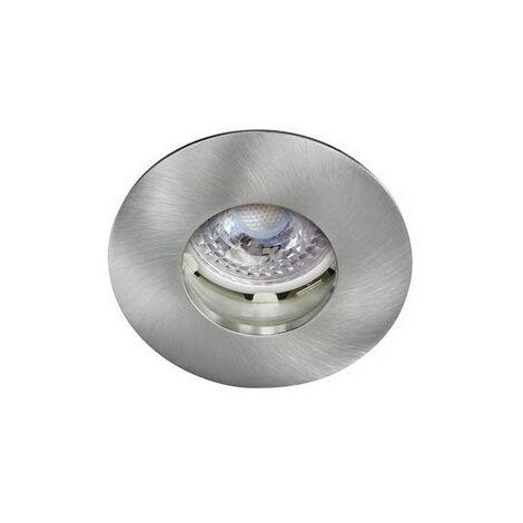Kit Spot encastré LED Hidro - 8W - 4000K - 700lm - Rond - Non dimmable - Avec ampoule - Nickel