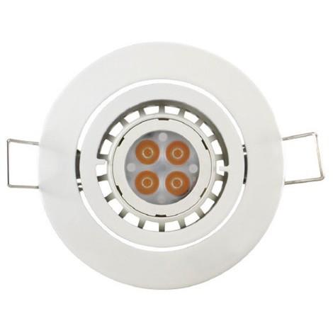 Kit spot LED 7W orientable blanc Ø 82mm avec lampe 12V GU5.3 2700K 330lm non dimmable 35° et driver 230V IP20 THORN 96262290
