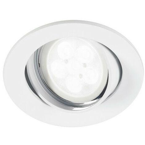 Kit spot LED encastre orientable 40° GU10 345lm blanc chaud 3000K DIM SYLVANIA