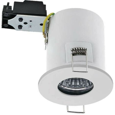Kit Spot LED RT2012/BBC Finition Blanc GU10 7W équivalent 50W - Blanc Chaud 2700K