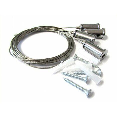 Kit Staffe Fissaggio a Sospensione Per Pannello Led 120x30 60x60 SV6059 SV6012 e Per Profilo Alluminio BA1814