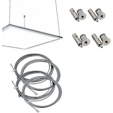 Kit Staffe Fissaggio a Sospensione Per Pannello Led 60x30 120x30 60x60