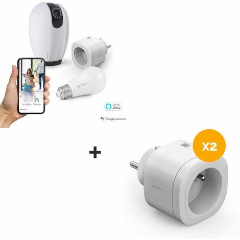 Kit Start connect Avidsen Home (caméra + prise + ampoule connectée) Prise connectée + caméra connectée motorisée + ampoule connectée - 3 Prises connectées + caméra connectée motorisée + ampoule connectée