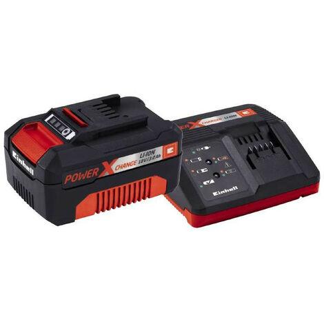 Kit Starter Cargador Power-X 18V + Bateria repuesto 18V 3Ah 1h Einhell.