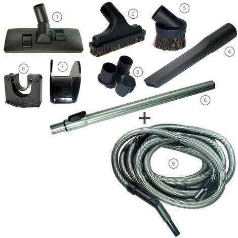 Kit STD + flexible STD con terminal rotativo y mango de plástico - Negro/Oro