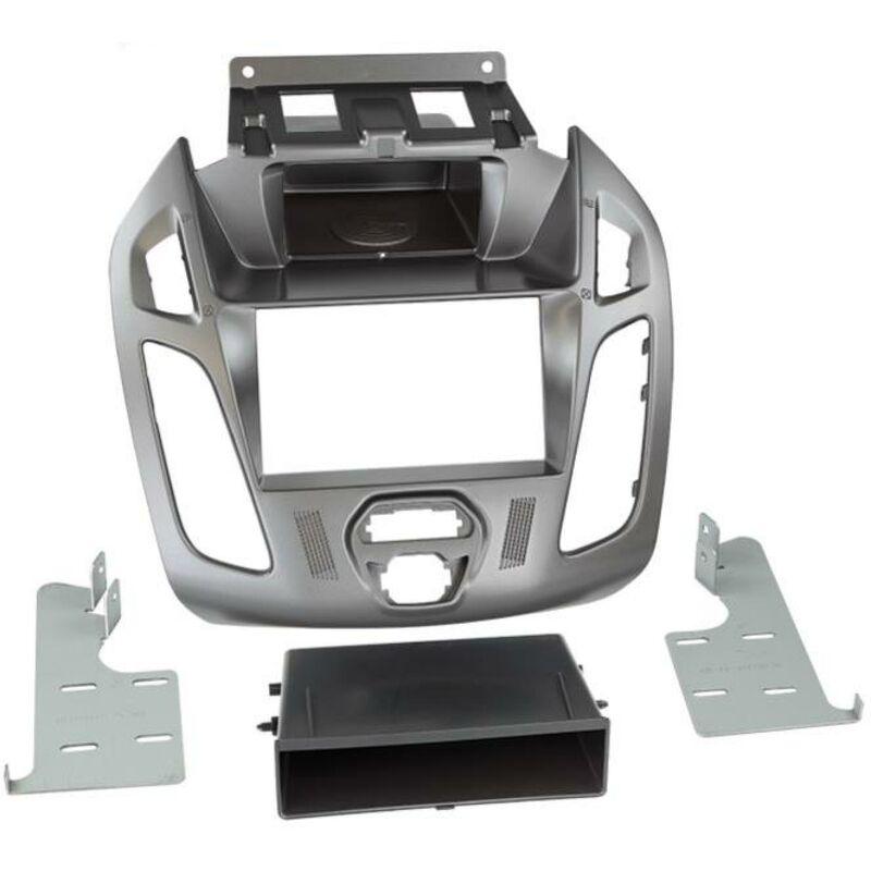 Kit support 2Din compatible avec Ford Tourneo Transit Connect ap13 Avec vide poche - Argent