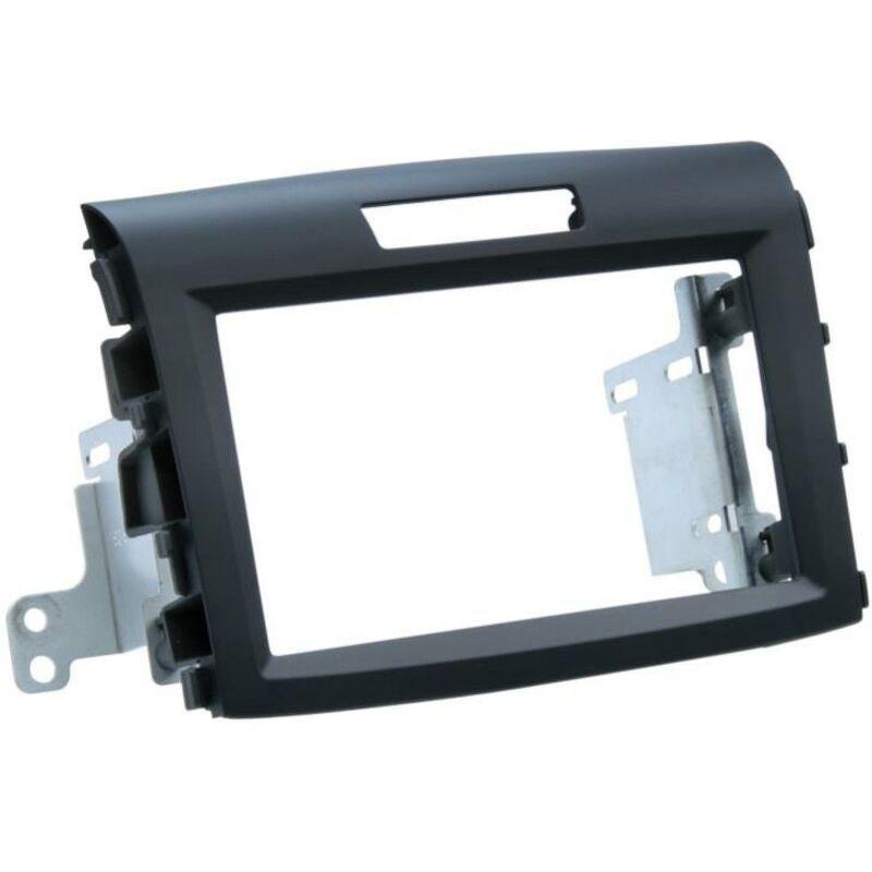 Kit Support Autoradio compatible avec Honda CR-V Noir rubber-touch