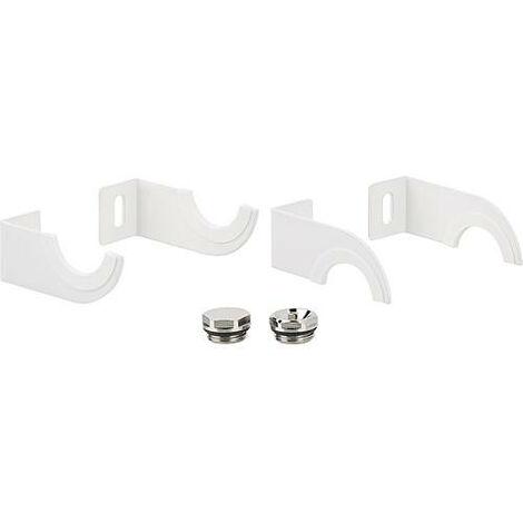 Kit support pour radiateur seche-serviette Ischia, Empoli, Tropea, blanc