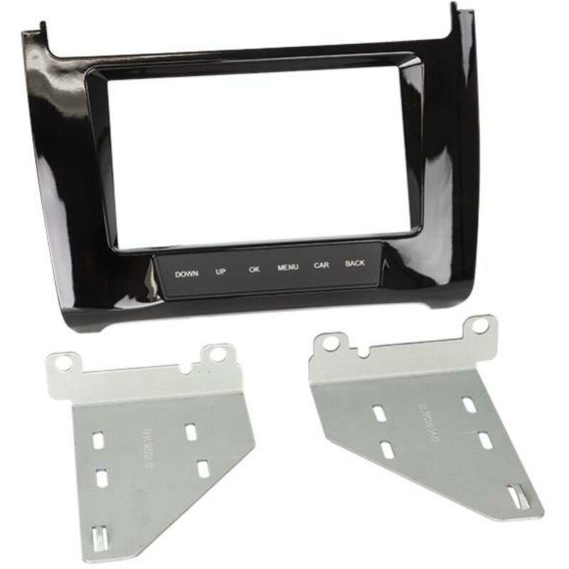 Kit support Autoradio compatible avec VW Polo V 6C - Noir brillant