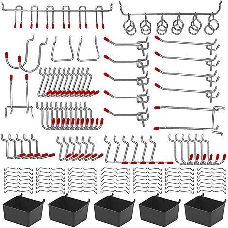 Kit surtido organizador de ganchos de tablero de metal