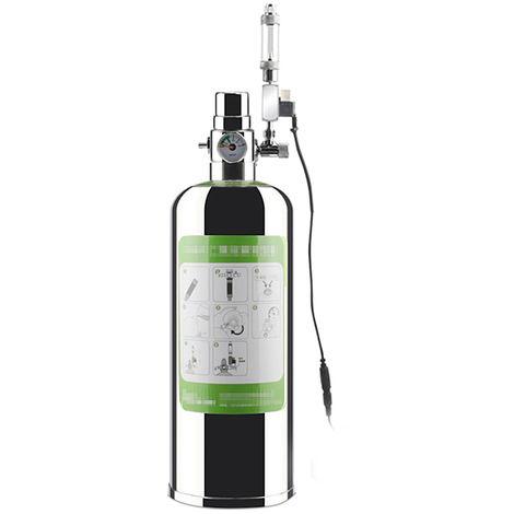 Kit Systeme Generateur De Co2 Pour Aquarium, Avec Electrovanne, Diffuseur De Bulles, 2L