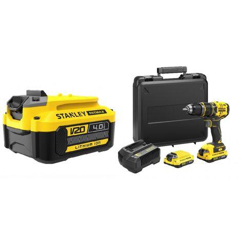 KIT: Taladro Percutor V20 BRUSHLESS + Batería V20 4Ah extra STANLEY CPROF629 (1 unidad)