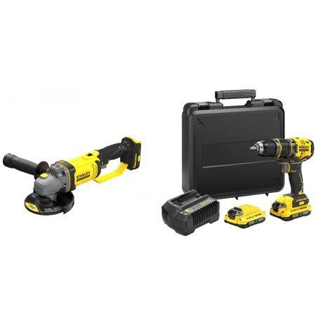 KIT: Taladro Percutor V20 BRUSHLESS + Mini-Amoladora V20 STANLEY CPROF634 (1 unidad)