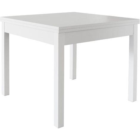 Tavolo A Libro Bianco.Kit Tavolo Cm 90x90 180 Modello Libro Bianco