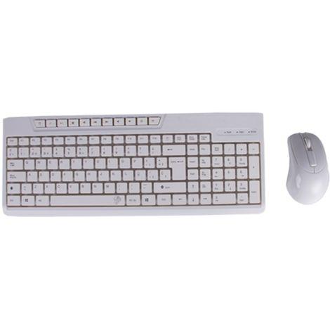 Kit teclado + raton blanco black