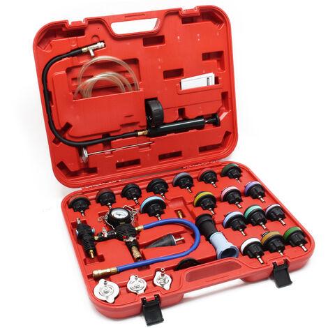 """main image of """"Kit Testeur de pression Système de refroidissement 27 pcs. Bouchon Codage par couleur & Pompe Test"""""""