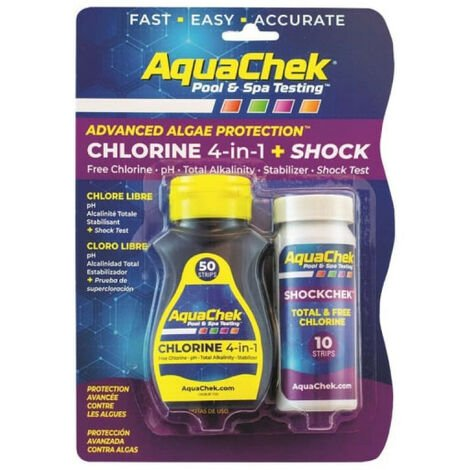 Kit testeur d'eau de piscine et chlore choc SCP - AQC-470-5016