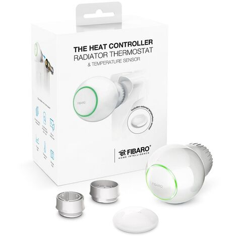 Kit tête thermostatique Z-Wave+ et capteur de température - Heat controller - Fibaro - {couleurs}