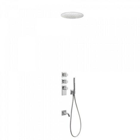 Kit thermostatique baignoire encastré BLOCK SYSTEM avec fermeture et réglage du débit (3 voies) - TRES 20635302