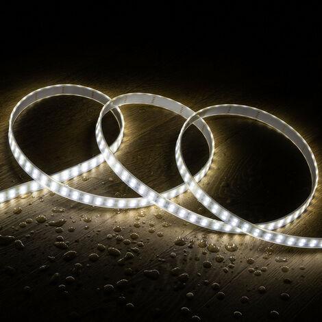 Kit Tira LED 12V 70W 120LED/m 5m IP67 con Fuente de Alimentación Blanco Neutro 4000K - 4500K - Blanco Neutro 4000K - 4500K
