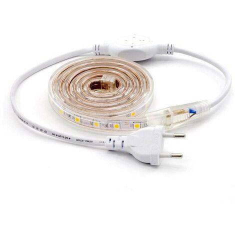 KIT Tira LED 220V SMD5050 EPISTAR, 60LED/m, RGB, 1 metro