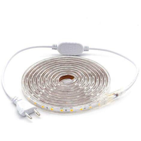 KIT Tira LED 220V SMD5050 EPISTAR, 60LED/m, RGB, 3 metros, RGB - RGB