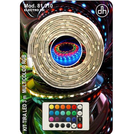 Kit tira led 3m RGB (tira 3m+aliment+man) 81.010 Electro Dh8430552143887