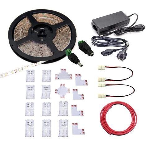 KIT Tira LED 6000K con alimentador y conectores