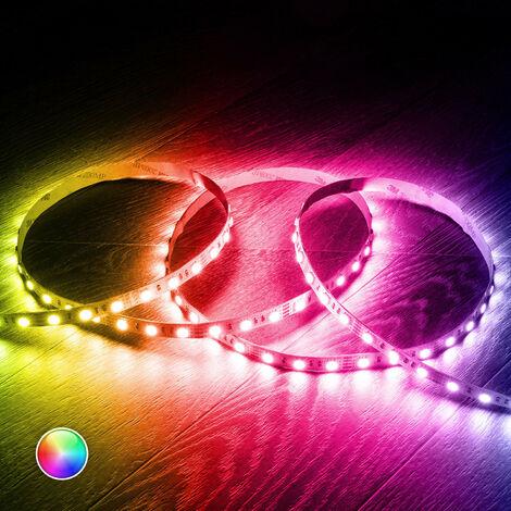 Kit Tira LED RGB 12V DC 60LED/m 5m IP20 con Fuente de Alimentación y Controlador RGB - RGB