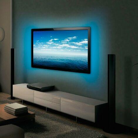Kit Tira LED USB TV 5VDC 4 x 0,5M RGB Mando Distancia [CA-TL-USB-RGB] | RGB (CA-TL-USB-RGB)